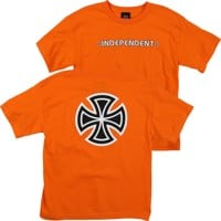 Independent Kids Bar/Cross T-Shirt - orange