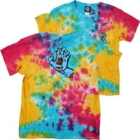 Santa Cruz Kids Screaming Hand T-Shirt - multi rainbow/blue