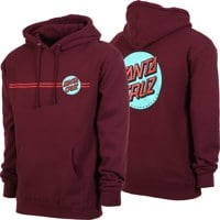 Santa Cruz Other Dot Hoodie - maroon/teal