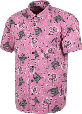 Patagonia Go To S/S Shirt - cotton ball gators: marble pink - view large