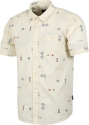 Patagonia Go To S/S Shirt - micro mixture: white wash