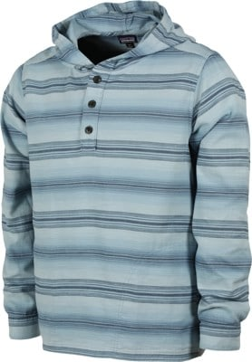 Patagonia Lightweight Fjord Flannel Hoody - rotation:big sky blue - view large
