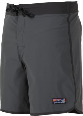 Patagonia Scallop Hem Stretch Wavefarer Boardshorts - forge grey - view large