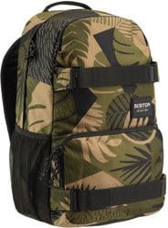 Burton Treble Yell 21L Backpack - martini olive woodcut palm