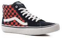 Vans Sk8-Hi Pro Skate Shoes - (checkerboard) navy/orange