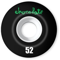 Chocolate Original Chunk Staple Shape Skateboard Wheels - white/black (99a)
