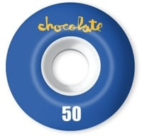 Chocolate Original Chunk Staple Shape Skateboard Wheels - white/blue (99a)