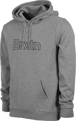 Brixton Gate II Hoodie - heather grey - view large