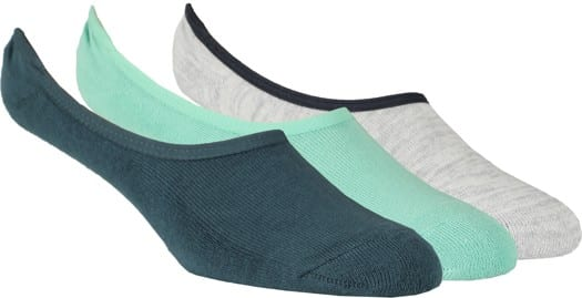 Vans Classic Super No Show 3-Pack Sock - dusty jade green assorted - view large