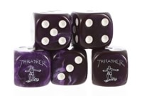 Thrasher Thrasher Dice Set - purple