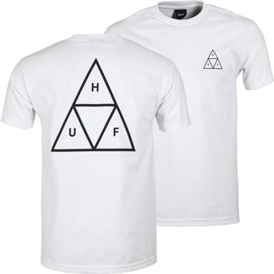 HUF Essentials Triple Triangle T-Shirt - white - view large