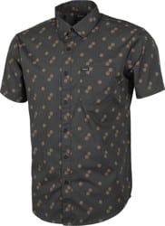 Brixton Charter Print S/S Shirt - washed black/copper