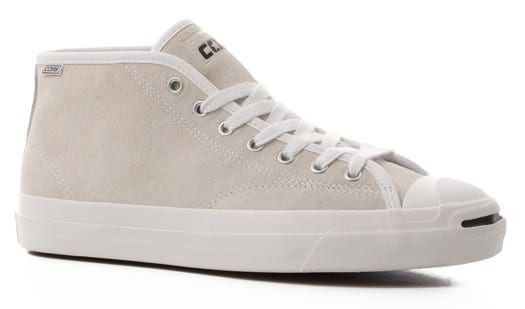 Converse Jack Purcell Pro Mid Skate Shoes - white/white/white - view large