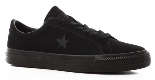 Converse One Star Pro Skate Shoes - black/black/black - view large