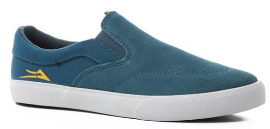 Lakai Kids Owen Slip-On Skate Shoes - slate suede - view large