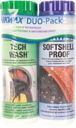 Nikwax Softshell Wash And Waterproof Duo Pack