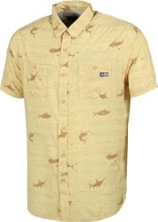 Salty Crew Horizon UV Protection S/S Shirt - yellow