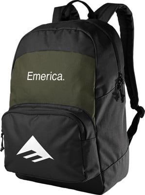 Emerica Logo Backpack - black/green - view large