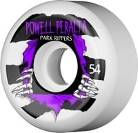 Powell Peralta Park Rippers 2 Park Formula Skateboard Wheels - white/purple (104a)