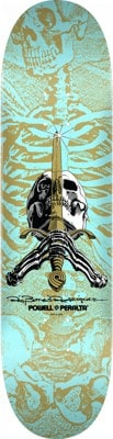 Powell Peralta Skull & Sword 8.5 249 Shape Skateboard Deck - turquoise - view large