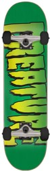 Creature Logo 8.0 Complete Skateboard - green/black wheels