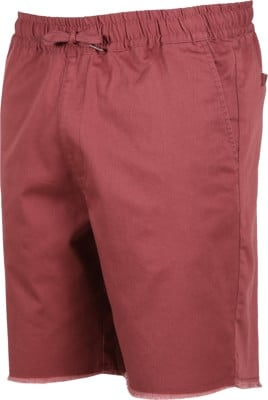RVCA Weekend Elastic Shorts - oxblood red - view large