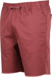 RVCA Weekend Elastic Shorts - oxblood red