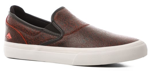 Emerica Wino G6 Slip-On Shoes - (zach allen) black/red/white - view large