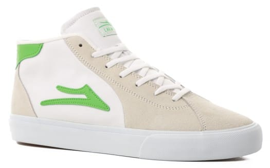 Lakai Flaco II Mid Skate Shoes - white suede - view large
