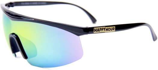 Happy Hour Fire Bird Sunglasses - black/yellow mirror burst - view large
