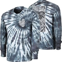 Happy Hour Black Light Tie Dye L/S T-Shirt - black
