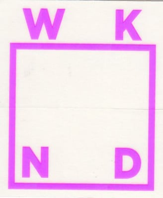 WKND Logo Sticker - neon purple - view large