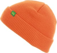 Krooked Eyes Clip Beanie - orange/green