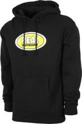 Real Oval Hoodie - black/yellow