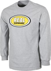 Real Oval L/S T-Shirt - athletic heather/yellow