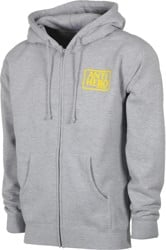 Anti-Hero Reserve Zip Hoodie - heather grey/yellow