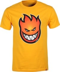 Spitfire Bighead Fade Fill T-Shirt - gold/red-orange fade