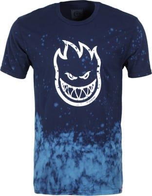 Spitfire Bighead Outline Fill T-Shirt - navy/blue wash/white - view large