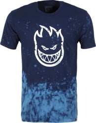 Spitfire Bighead Outline Fill T-Shirt - navy/blue wash/white