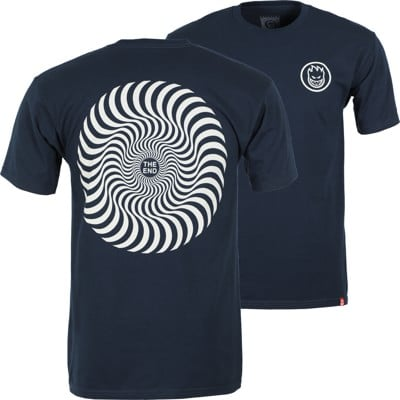 Spitfire Classic Swirl T-Shirt - navy/raw discharge - view large