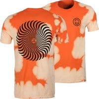 Spitfire Classic Swirl T-Shirt - orange/white wash/black
