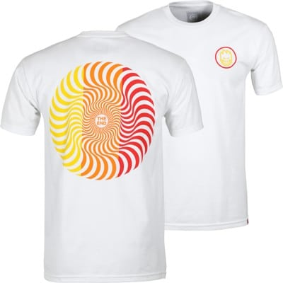 Spitfire Classic Swirl T-Shirt - white/yellow/orange/red - view large