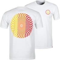 Spitfire Classic Swirl T-Shirt - white/yellow/orange/red