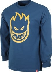 Spitfire Bighead L/S T-Shirt - harbor blue/gold