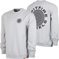 Spitfire Classic 87' Swirl Crew Sweatshirt - grey heather/black