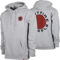 Spitfire Classic 87' Swirl Hoodie - grey heather/red/black