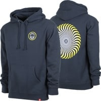 Spitfire Classic Swirl Fade Hoodie - slate blue/yellow/white