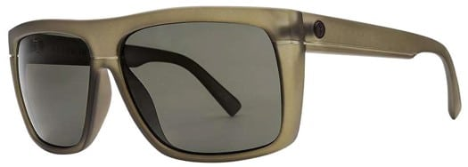 Electric Black Top Polarized Sunglasses - matte olive/ohm grey polarized lens - view large