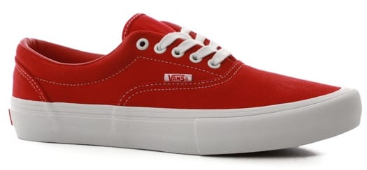 Vans Era Pro Skate Shoes - (suede) red/white - view large
