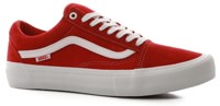 Vans Old Skool Pro Skate Shoes - (suede) red/white